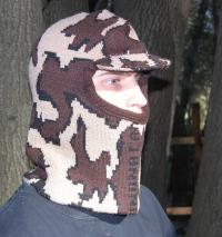 Knit Camo Winona™ Balaclava face mask with soft bill Select Color