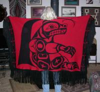 Dance Shawl ~ Acrylic or Merino ~ PNW Sitting Bear Design ~ Salish Reproduction