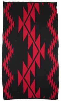 Sport's Tattoo Design featured on this two color Hupa Karuk Yurok Blanket