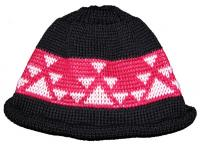 Little Goose Native Basketry Mark on this Indian Beanie