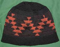 Friendship Basketry Mark Accents this Indian Hat with Basket Weave Hem ~ Select