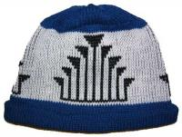 Frogs Hand Native Design featured in this Adult Knit Indian Cap