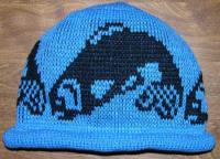 Salmon Design on this Pit River Replica Knit Native Beanie