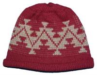 Sports Tattoo Native Basketry Mark on this Baby Indian Beanie Acrylic