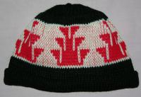 Foot Native Basketry Mark on this Child Indian Beanie
