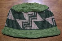 Big Stairway to Heaven Native Design featured on this Adult Indian Beanie