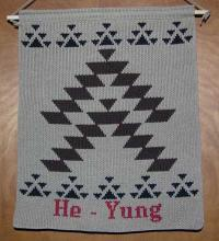 He Yung ~ Hupa Greeting Wallhanging ~ Friendship Design