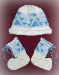 Acrylic Baby Bootie & Cap Set ~ Little Goose ~ Select Size & Colors
