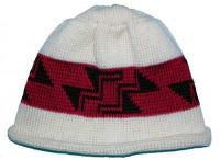 Little Stairway to Heaven Indian Basketry Motif on Knit Native Cap