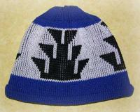 Native Knit Basketry Cap featuring the Big Foot Design ~ Select OPTIONS