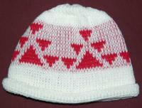 Little Goose Native Basketry Mark on this Baby Indian Beanie Acrylic
