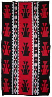 Foot Design featured on this four color Hupa Karuk Yurok Blanket