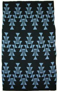 Frog Foot Design featured on this two color Hupa Karuk Yurok Blanket