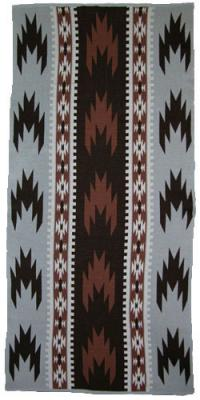 Swallow Tail Design featured on this four color Hupa Karuk Yurok Blanket