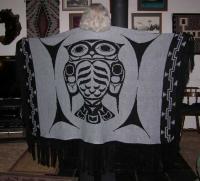Dance Shawl ~ Acrylic or Merino ~ PNW Owl Design ~ Salish Reproduction
