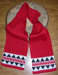 Sturgeon Native Scarf ~ Select Acrylic or Merino Wool Yarn and Colors
