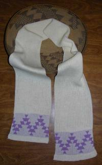 Friendship Native Scarf ~ Select Acrylic or Merino Wool Yarn and Colors