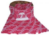 Flint Design Featured on this Native Baby Receiving Blanket and Cap Set