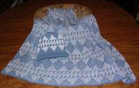 Sturgeon Design Featured on this Native Baby Receiving Blanket and Cap Set