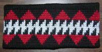 Knit Headband ~ Sturgeon Design ~ Select Colors in Merino Wool or Acry