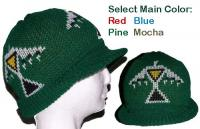 Woodlands Design ~ White Hawk on this knit Native Visor beanie