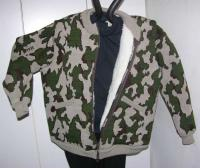 Knit Lined Winona Camo Elite Cardigan Jacket color H Camel Brown Olive