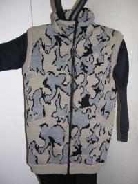 A Knit Winona Camo™ Elite™ Vest shown in Color T Camel / Black / Grey
