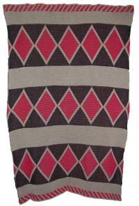 Snakeskin Design from Tribes of Central Ca Featured on this Native knit Baby Cri