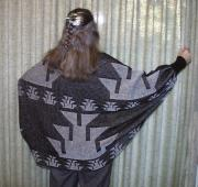 Knit Shrug featuring the Foot Basketry Motif ~ Select Colors