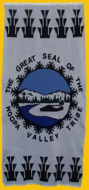 Hoopa Valley Tribe Flag Knit Blanket
