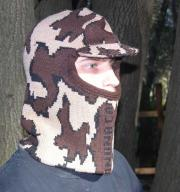 Knit Camo Winona Balaclava face mask with soft bill Select Color