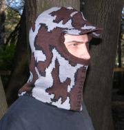 Knit Camo Winona Balaclava face mask with soft bill color S