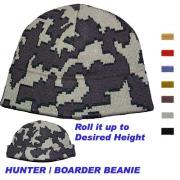 Knit Camo Boarder Beanie in color E