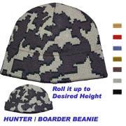 Knit Camo Boarder Beanie in color E