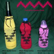 Friendship design knit on these bottle covers various sizes available