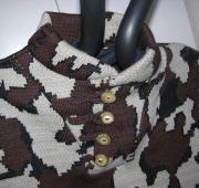 Winona Camo Elite Fatique Knit Sweater closeup of Loop Closure for Buttons