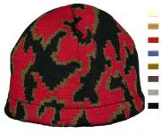 Camo Skull Beanie shown in Red/Mocha/Black select own colors