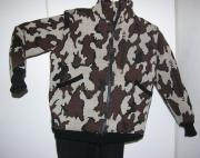 A Knit Winona Camo Elite Cardigan Jacket Colorway E: Camel/Black/Brown