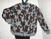 A Knit Winona Camo Elite Cardigan Jacket Colorway S: Grey/Black/Brown