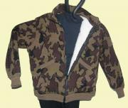 Knit Lined Winona Camo Elite Cardigan Jacket color Q Mocha Black Brown