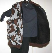 Camo Elite© Vest ~ Black Sherpa Lining color S Grey black brown