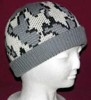 Camo Ski Runner Beanie w Lycra Rib Band color G