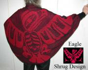 Eagle Shrug / Shawl ~ Pacific North West Art Style ~ Select Colors