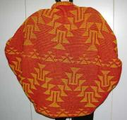 Knit Shrug featuring the Frog Foot Basketry Motif ~ back view
