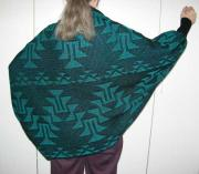 Knit Shrug featuring the Frog Foot Basketry Motif ~ Select Colors
