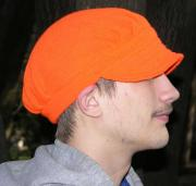 A Knit Winona Camo© Ridge Runner Hat ~ Hunter Blaze Orange ~ choose Size ~ acryl