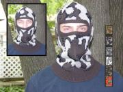 A Knit Winona Camo© Face Mask ~ shown in color E Acrylic Fiber: Classic