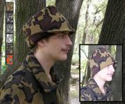 A Knit Winona Camo© Floppy Hat shown in Color Q: mocha/black/brown