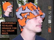 """A Knit Winona Camo© Survivor Hat ~ Shown in color way R"