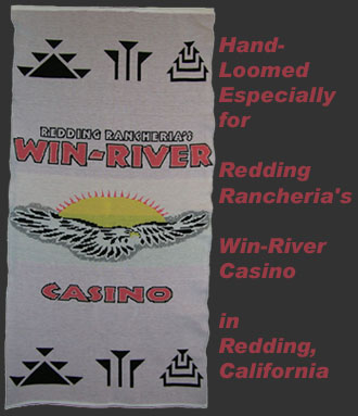 Native American Casino Win-River Knit Logo Blanket
